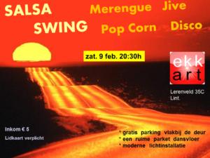 Salsa en swing avond flyer